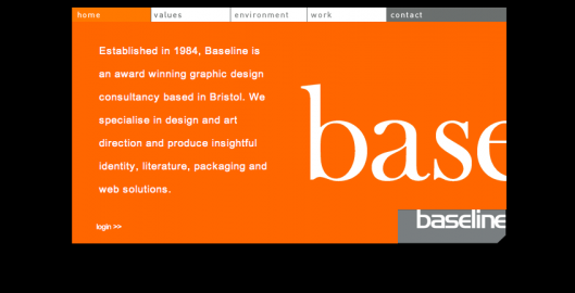 Old Baseline website