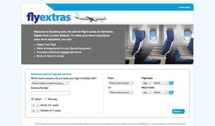 Fly Extras website